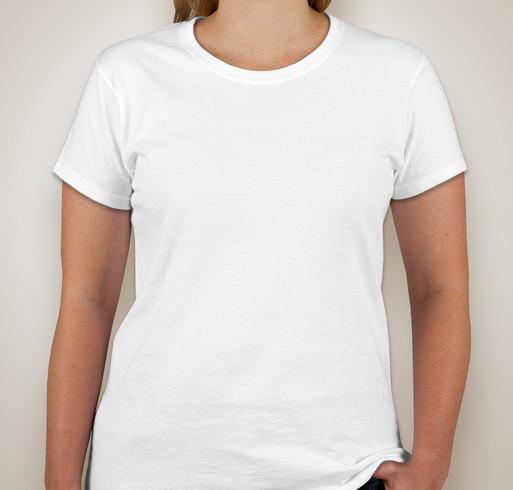 Gildan Ladies 100% Cotton T-shirt - White