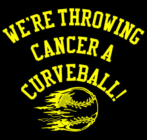 Throw Cancer a Curveball! shirt design - zoomed