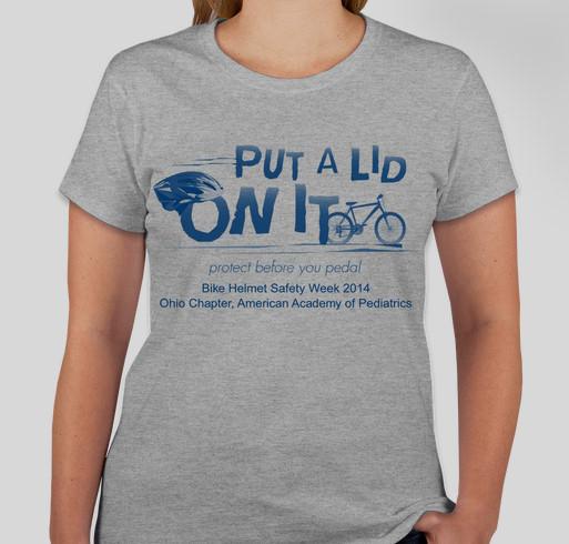 Put a Lid on It! Bike Helmet Safety Week 2014 Fundraiser - unisex shirt design - front