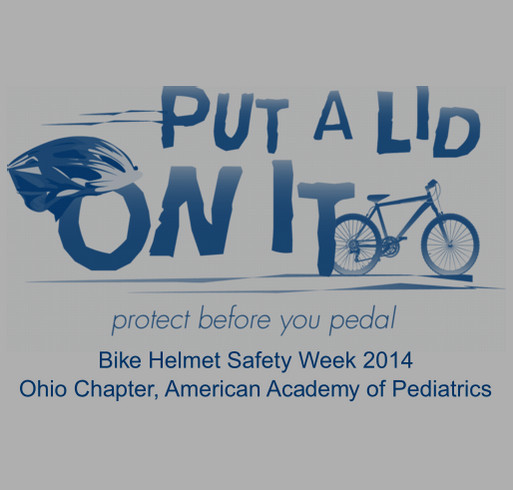 Put a Lid on It! Bike Helmet Safety Week 2014 shirt design - zoomed