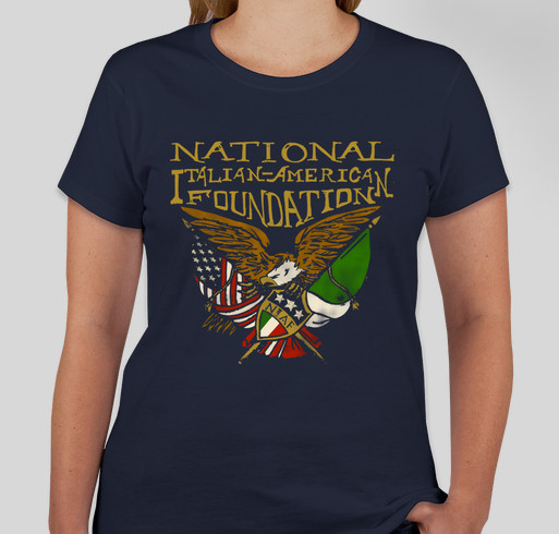 National Italian American Foundation Spring 2015 Merchandise Sale Fundraiser - unisex shirt design - front