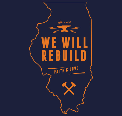 Rebuild Illinois shirt design - zoomed