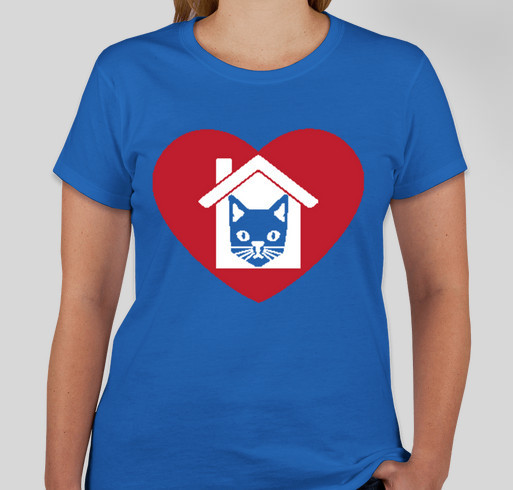 "House of Dreams' ""I Heart My House Cat"" T-shirt campaign Fundraiser - unisex shirt design - front"