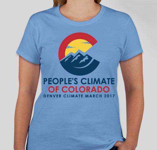 Denver Climate March 2017 Fundraiser - unisex shirt design - front