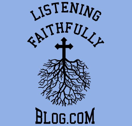 Support Listening Faithfully Blog Language Arts Book Drive! shirt design - zoomed