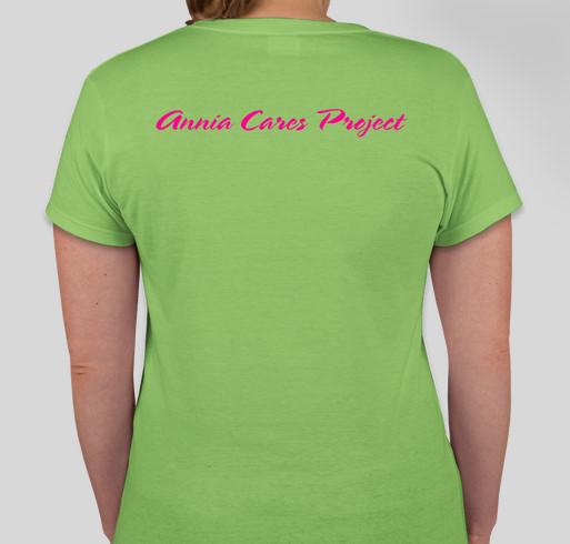 Annia Cares Project Fundraiser - unisex shirt design - back