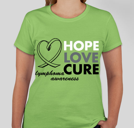 Lymphoma Awareness Fundraiser - unisex shirt design - front