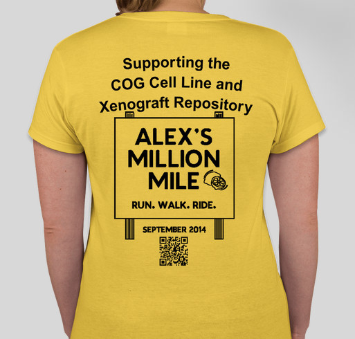 Team Cellbusters for Alex's Million Mile Fundraiser - unisex shirt design - back