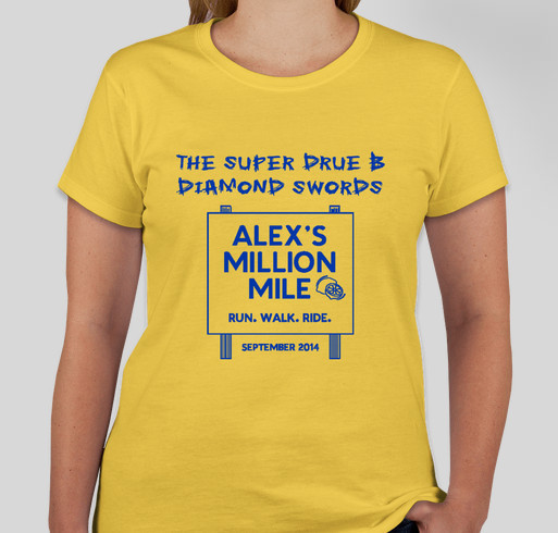 The Super Drue B Diamond Swords-Alex's Million Million official shirt Fundraiser - unisex shirt design - front