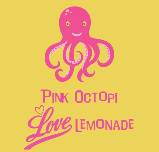 Pink Octopi Million Mile-a-Thon for Alex's Lemonade Stand Foundation shirt design - zoomed