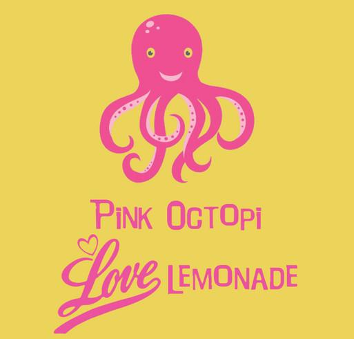 Pink Octopi Million Mile-a-Thon for Alex's Lemonade Stand Foundation shirt design - zoomed
