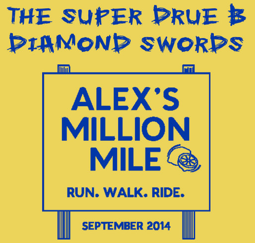 The Super Drue B Diamond Swords-Alex's Million Million official shirt shirt design - zoomed