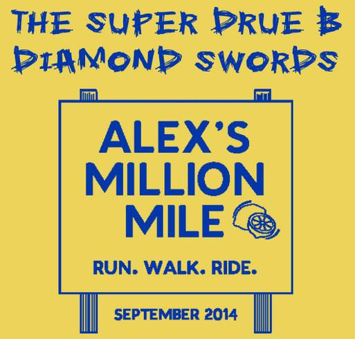 The Super Drue B Diamond Swords-Alex's Million Million official shirt shirt design - zoomed