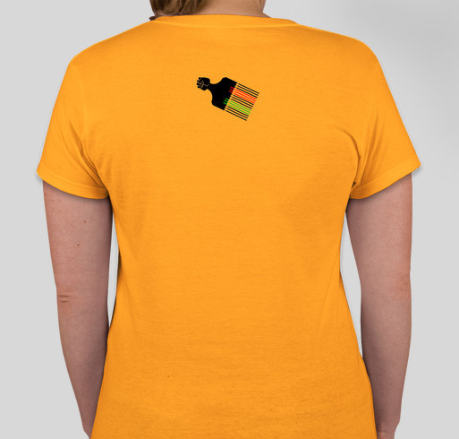 EBONIAN...BECAUSE BLACK IS JUST A COLOR! Fundraiser - unisex shirt design - back