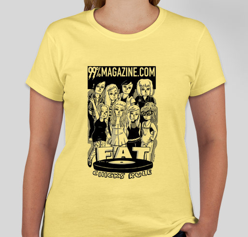 FAT CHICKS RULE! Fundraiser - unisex shirt design - front
