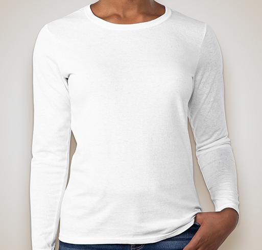 Gildan Ladies 100% Cotton Long Sleeve T-shirt - White