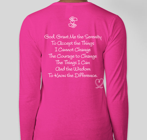 Serenity Prayer Shirt Fundraiser - unisex shirt design - back