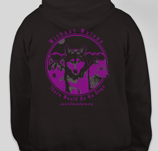 Raising Money for Wolfdog Rescue Fundraiser - unisex shirt design - back