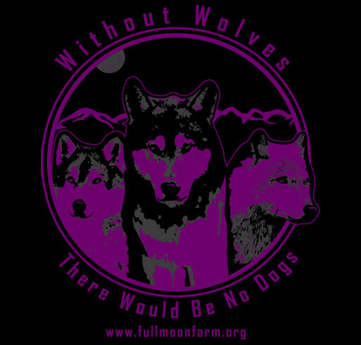 Raising Money for Wolfdog Rescue shirt design - zoomed