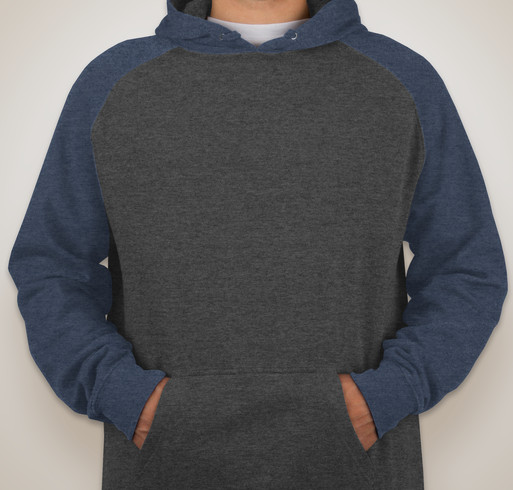 Independent Trading Heather Raglan Hooded Sweatshirt - Charcoal Heather / Black