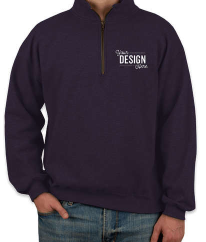 Gildan Vintage Quarter Zip Sweatshirt - Blackberry