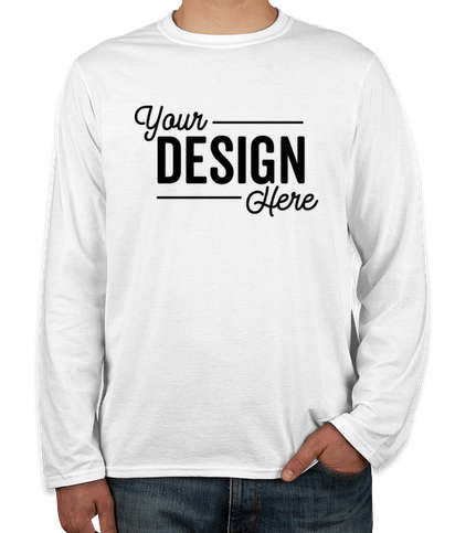 Gildan Softstyle Long Sleeve Jersey T-shirt - White
