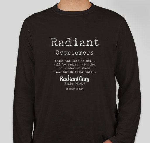 SpeakHope Radiant Overcomers Fundraiser - unisex shirt design - front