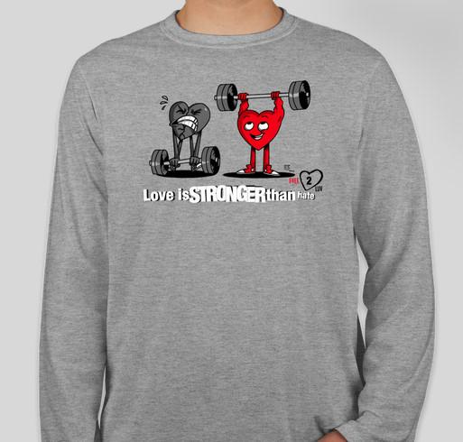Free2Luv Fundraiser - unisex shirt design - front