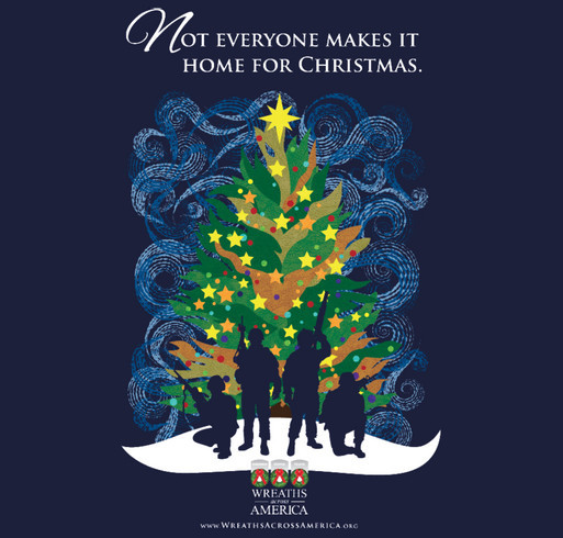 The Wreaths Across America Silent Night Shirt shirt design - zoomed