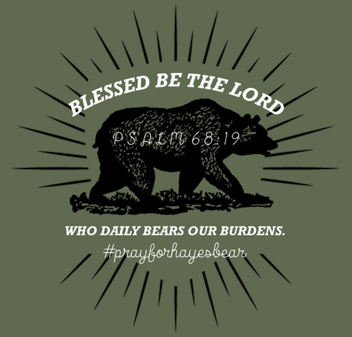 Still Praying for Hayes Bear shirt design - zoomed