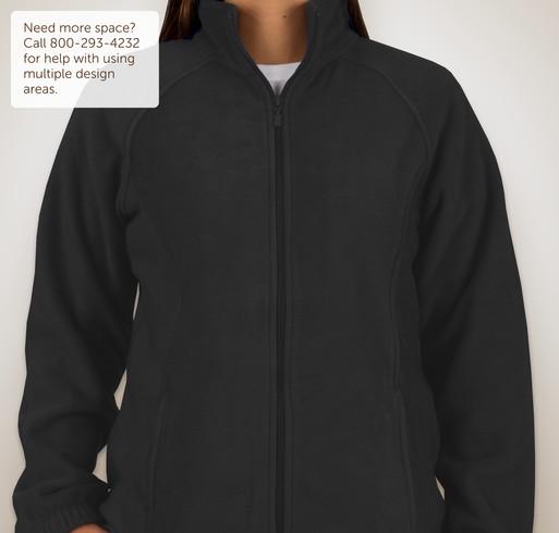Harriton Ladies Full-Zip Fleece Jacket - Black