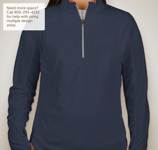 Port Authority Ladies 1/4-Zip Microfleece Pullover - Pearl Grey
