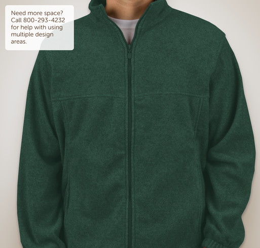 Harriton Full-Zip Fleece Jacket - Charcoal
