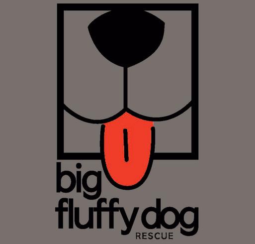 Big Fluffy Dog Rescue shirt design - zoomed