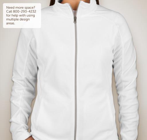 Port Authority Ladies Full-Zip Microfleece Jacket - White