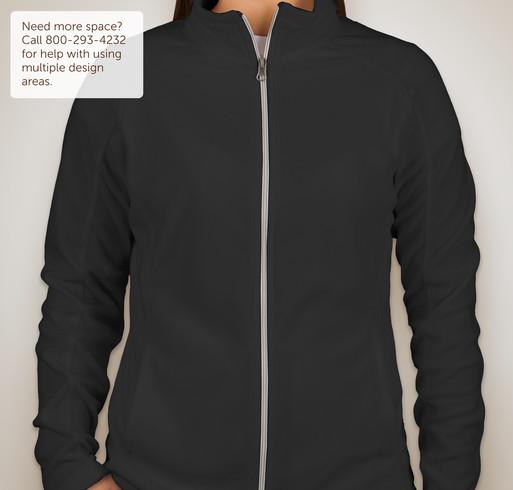 Port Authority Ladies Full-Zip Microfleece Jacket - Black