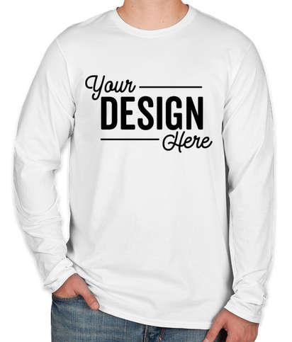 Hanes Nano Long Sleeve T-shirt - White