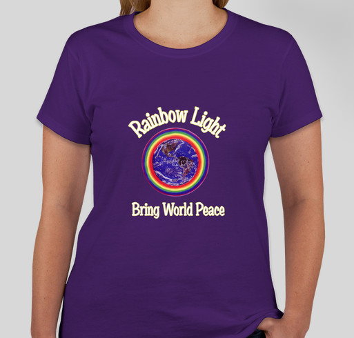 Rainbow Uprising of Consciousness Peace March Fundraiser - unisex shirt design - front