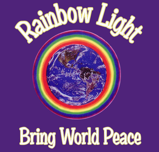 Rainbow Uprising of Consciousness Peace March shirt design - zoomed