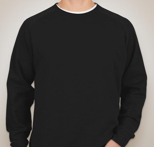 Independent Trading Heather Raglan Crewneck Sweatshirt - Black