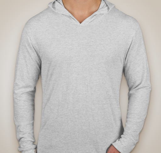 Next Level Tri-Blend Hooded Long Sleeve T-shirt - Heather White