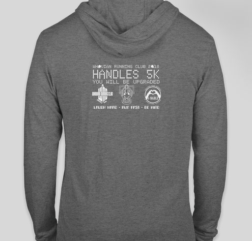 Handles 5K Fundraiser - unisex shirt design - back