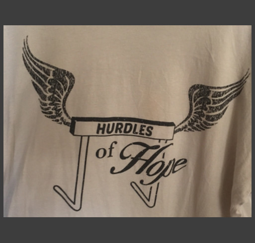 Hurdles of Hope shirt design - zoomed