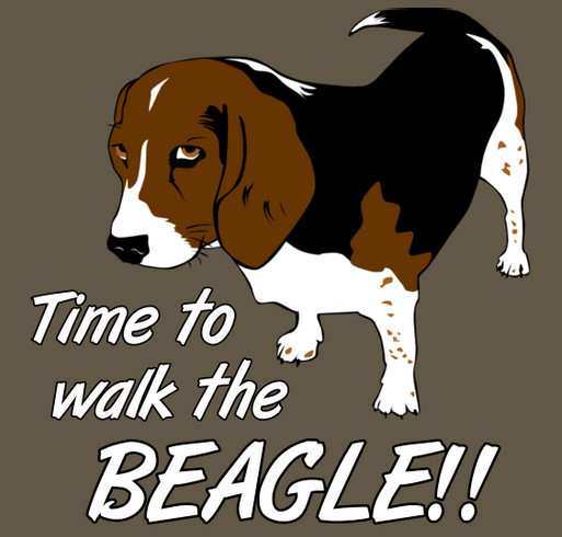 Illinois Birddog Rescue shirt design - zoomed