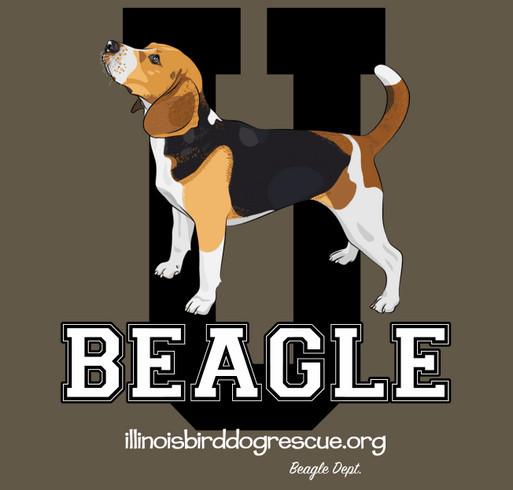 Beagle University shirt design - zoomed
