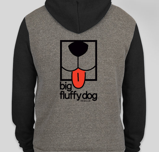 Big Fluffy Dog Rescue Logo Hoodies Fundraiser - unisex shirt design - back