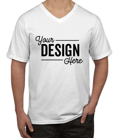 Canada - Anvil Jersey V-Neck T-shirt - White