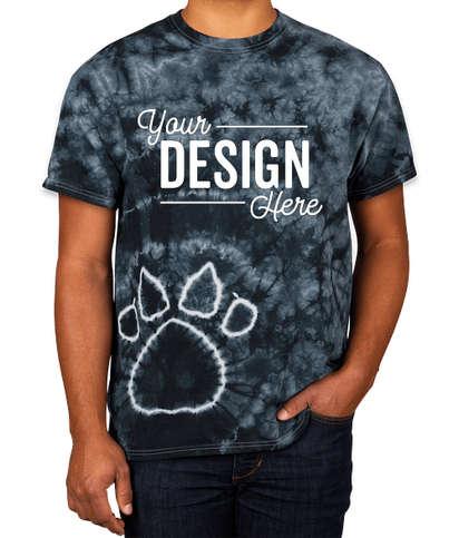 Dyenomite Paw Print Tie-Dye T-shirt - Black