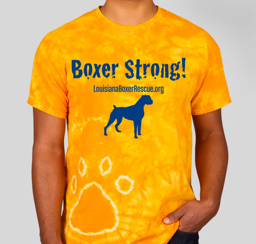 Boxer Strong! Fundraiser - unisex shirt design - front