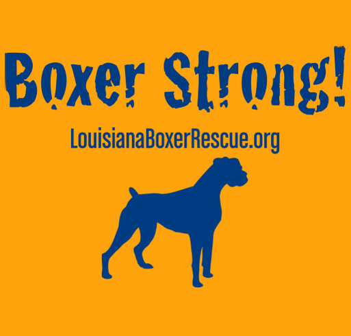 Boxer Strong! shirt design - zoomed